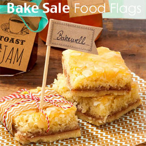 Bake sale food flags