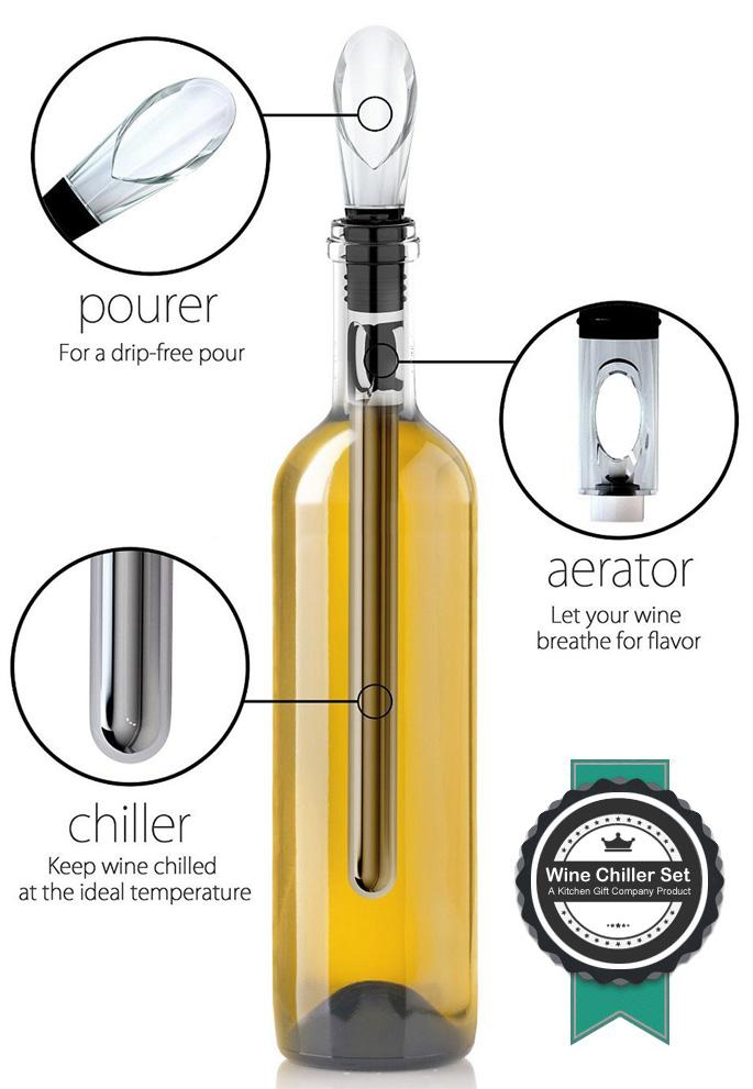 wine chiller rod